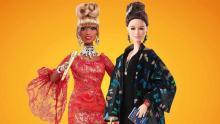 Celia Cruz and Julia Alvarez in Barbie version.