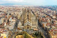 Aerial view of the Sagrada Familia in Barcelona. File image.