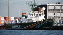 Sirius, one of the ships of the environmental organization Greenpeace