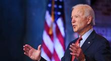 Joe Biden speaks at a conference. File image. Photo Jim Watson, Getty Images
