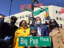 Big Pun Plaza in the Bronx. Photo from the twitter of El Bronx Councilman Fernando Cabrera.