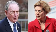 The billionaire former mayor of New York, Michael Bloomberg (left) has introduced the necessary documentation for the Democratic primary, where candidates such as Elizabeth Warren (right) have become popular for their plans to break economic inequality in the country.