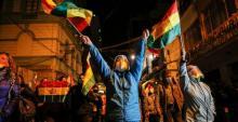 Protesters against the leftist government of Luis Arce: La Paz, Bolivia, March 15, 2021. Photo: Manuel Claure / Reuters