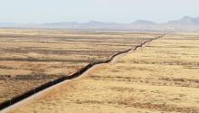 Arizona - U.S. Customs & Border Protection Southwest Border Fence Line. Photographer: Donna Burton