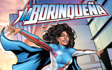 Part of the cover of the comic book 'La Borinqueña' (©2016, SOMOS ARTE, LLC. ALL RIGHTS RESERVED)