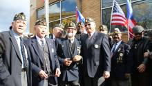 Members of the Latin American Post 840 of the American Legion and Puerto Rican veterans in Philadelphia. Photo: Samantha Madera/AL DÍA News