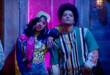 A still from Bruno Mars'Finesse (Remix), featuring Cardi B.