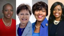 D.D Adams (NC-5), Janet Garrett (OH-4), Linda Coleman (NC-2), Jeannine Lake (IN-6)