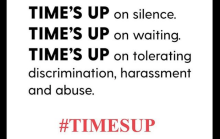"Image of the ""Time's up"" campaign."