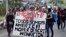 """The """"2018 Refugee Caravan"""" has been touring Central America and southern Mexico for two weeks. Photo: Reuters"""