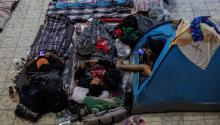 General view of the El Barretal shelter, where some 2,000 Central American citizens of the migrant caravan were relocated, in the city of Tijuana (Mexico). EFE/Alonso Rochín