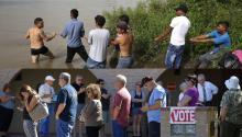 El presidenteTrump transformauna nuevaCaravana de inmigrantes en campaña política.