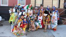 Integrantes de las familias Soriano, Columna y Ramos durante la conmemoración del décimo aniversario del Carnaval de Puebla en Filadelfia. Ana Gamboa/AL DÍA News