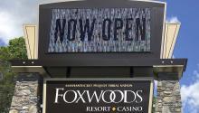Entrada del casino Foxwoods Resort. Foto: AP