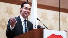 The Mayor of San Antonio, presidential candidate and former Secretary of Housing and Urban Development, Julian Castro, delivers a speech during the Annual Policy Conference of the Latino Legislative Committee of California at the Grand Hotel of California in Anaheim. Member of the Democratic Party, Julian Castro announced his candidacy for President of the United States on January 12, 2019. (United States) EFE/EPA/ETIENNE LAURENT