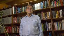 El escritor nicaragüense Sergio Ramírezha puesto la literaturacentroamericana en el mapa literario internacional, tras ganar el Premio Cervantes 2017. Imagen del escritor en su casa, en Managua, este jueves. Foto:EFE/Jorge Torres