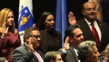 New Members of the Congressional Hispanic Caucus swearing in.