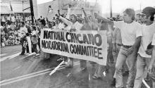 Imagen de la marcha de la Moratoria Chicana contra la guerra de Vietnam en Los Ángeles. Photo: LA Times