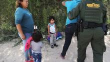 Border Patrol agents take Central American asylum seekers into custody, June 12, 2018. By John Moore/Getty Images.