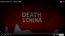 An image from Peter Navarro's 2012 documentary Death by China. Photo: Netflix