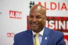 Cid Wilson, president and CEO of the Hispanic Association on Corporate Responsibility, at our offices earlier this year. Photo: SamanthaLaub/AL DÍA News