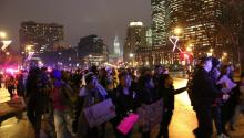 Hundreds of protesters marched throughout Center City Philadelphia Nov. 3 calling for justice for the deaths of Michael Brown and Eric Garner. Samantha Madera/AL DÍA News