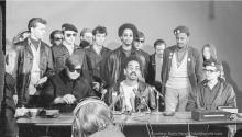 A press conference held by the Rainbow Coalition in 1969.