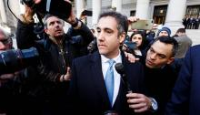 Michael Cohen, personal former lawyer of U.S. President Donald Trump, leaves the federal court in New York, United States, on November 29, 2018. Cohen pleaded guilty to having lied to the United States Congress during the investigation of the Russian plot of special prosecutor Robert Mueller. EFE/Justin Lane