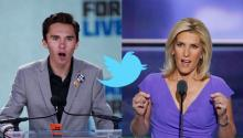 David Hogg, Marjory Stoneman Douglas High School shooting survivor, and Laura Ingraham, Fox News host. EFE