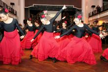 The Pan American Academy Charter School entertains the audience with a flamenco performance Photos: Peter Fitzpatrick/AL DIA News