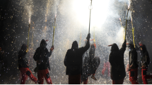 Correfocs in the festivities of La Merced. File image.
