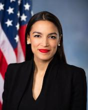 U.S. Representative for New York's 14th congressional district, Alexandria Ocasio-Cortez. Photo Courtesy of her office.
