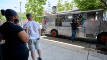 The Delos Santos family parks their food truck at 1 p.m. everyday Saturday and Sunday.Harrison Brink