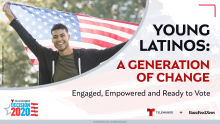 Motivated by the effects of a pandemic and calls for racial justice, young Latinx voters are brewing a storm. Photo: Telemundo