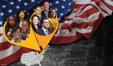 Here's who AL DÍA picked as the top politicians nationally and locally for 2019. Graphic: Maybeth Peralta/AL DÍA News.