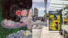 """""""On rest and resistance"""" es la obra de la dominicanaFirelei Báez, inspirada en la escritora Octavia Butler. """"Photo: NYCgo."""