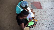 Two Cuban teenagers in Havanna this week. Photo: EFE / Alejandro Ernesto