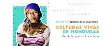 Poster of the Living Cultures of Honduras Exhibition.