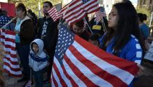 """Demonstrators meet in El Paso, Texas this monthto protest against the lack of legal protection in which thousands of """"dreamers"""" find themselves. EFE / Alberto Ponce de León"""
