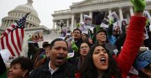 Demonstration on December 6 before the Capitol in Washington against the repeal of the Daca program. Mark Wilson / AFP