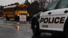 Dalton police respond to reports of shots fired at Dalton High School on Wednesday, Feb. 28, 2018. Photo by C.B. Schmelter /Times Free Press