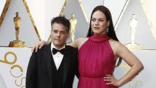 Sebastian Lelio (L) and Daniela Vega arrive for the 90th annual Academy Awards ceremony at the Dolby Theatre in Hollywood, California, USA, 04 March 2018. The Oscars are presented for outstanding individual or collective efforts in 24 categories in filmmaking. EFE/EPA/MIKE NELSON