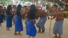 Shuar Dance in Logroño, Ecuador, 2010. Ecuador groupAcción Ecológica has been accused to promote violence from the Shuar indigenous people against the construction of a new Copper mine. Photo: Commons/Wikimedia