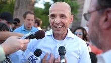 David Garcia after announcing his candidacy for the governorship of Arizona. Photo: Gage Skidmore