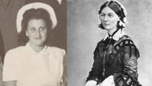 Elvira Dávila Ortiz y Florence Nightingale, dos de las enfermeras más famosas de la historia.