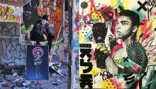 El arte político deDead Punk se centra en las brutalidad policialy la responsabilidad, pero también tiene poderosos referentesen el ring y fuera de él. Photo: deadpunk_x / Instagram