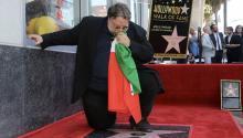 Guillermo del Toro ante su estrella en el Paseo de la Fama de LA. el pasadoaño 2019. Photo: Getty Images