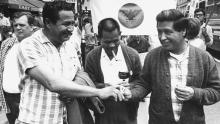 Larry Itliong and Cesar Chavez. Photo: Gerald French/Getty Images