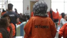 Detainees are seen in an immigration detention center in San Diego, California, on May 18, 2018. (Reuters / Lucy Nicholson)