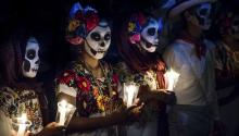 Las Ánimas Festival at the General Cemetery of Mérida (México). Via Getty Images.